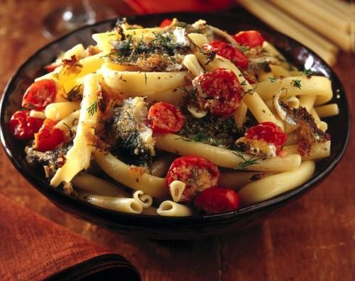 cucina, primi piatti, alici, pomodorini, ricette pasta, ricette pesce